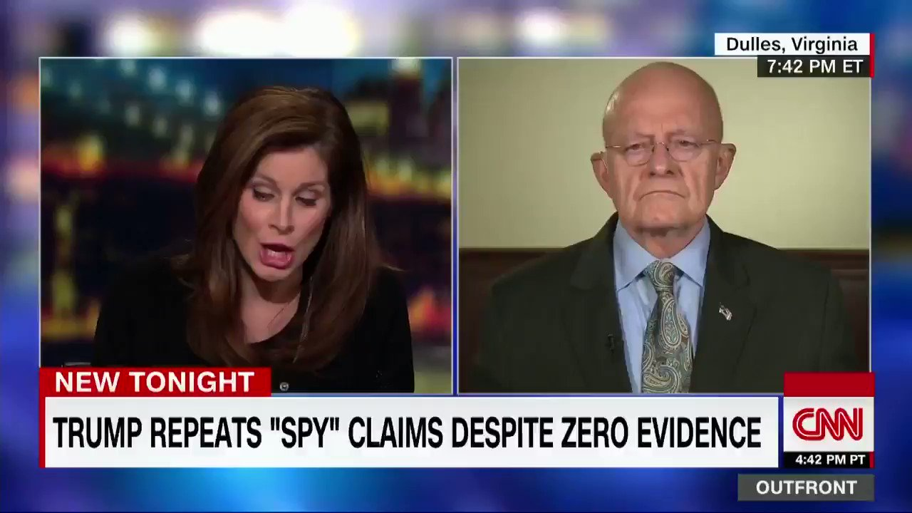 "Former Director of National Intelligence James Clapper on Russian interference in the 2016 election: ""It just to me defies logic and credulity to suggest that they didn't have a huge impact and turn the election towards Donald Trump. https://t.co/enm6qeLAcr"