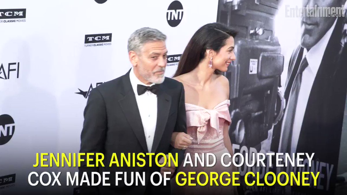 Friends reunion: Jennifer Aniston and Courteney Cox make fun of AFI honoree George Clooney: