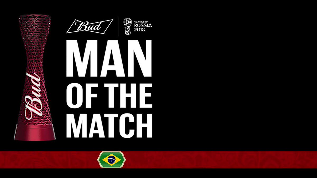 RT @FIFAWorldCup: #BRASUI The @Budweiser #ManoftheMatch award goes to @Phil_Coutinho ???????? #BRA #WorldCup https://t.co/TQpXwtJt2y