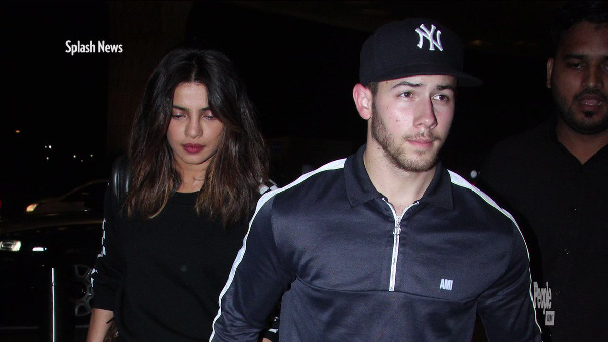 Nick Jonas and Priyanka Chopra Hold Hands as They End Week-Long Getaway to India