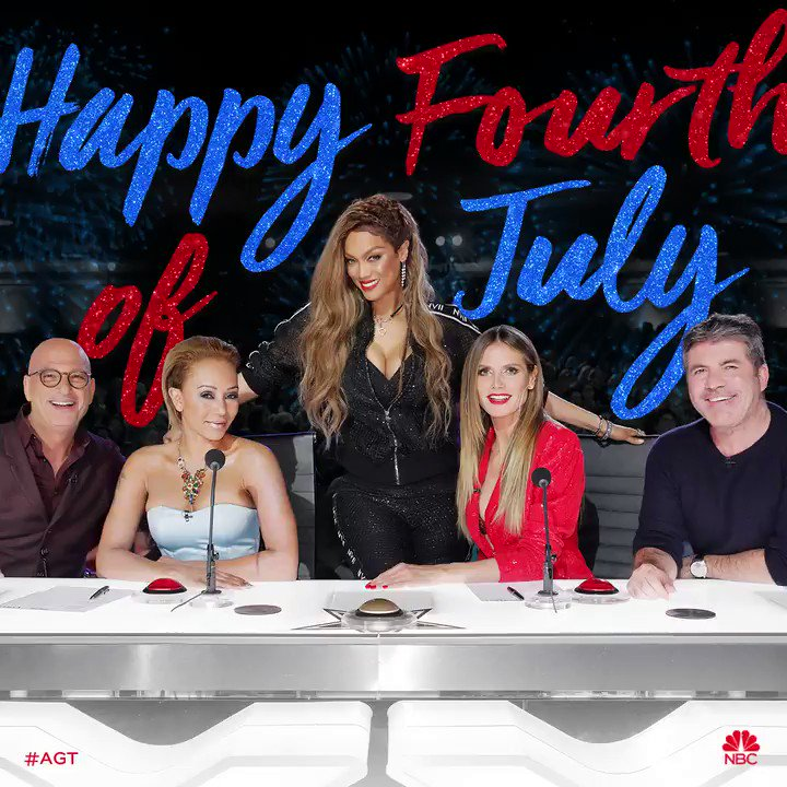 RT @AGT: Red, White, and SPARKLE!    Wishing you all the happiest #FourthOfJuly from our #AGT fam. ???? ????????❤️???? https://t.co/OQWCfPtqvt