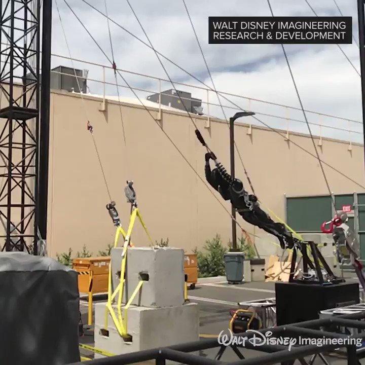 Disneys fearless robotic stuntmen take to sky like