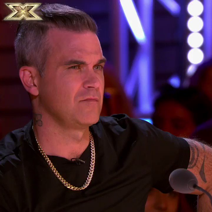RT @TheXFactor: We could be wrong, but we don't think this is @robbiewilliams' impressed face #XFactor #ITSANOFROMME https://t.co/UH2E9CTmz2