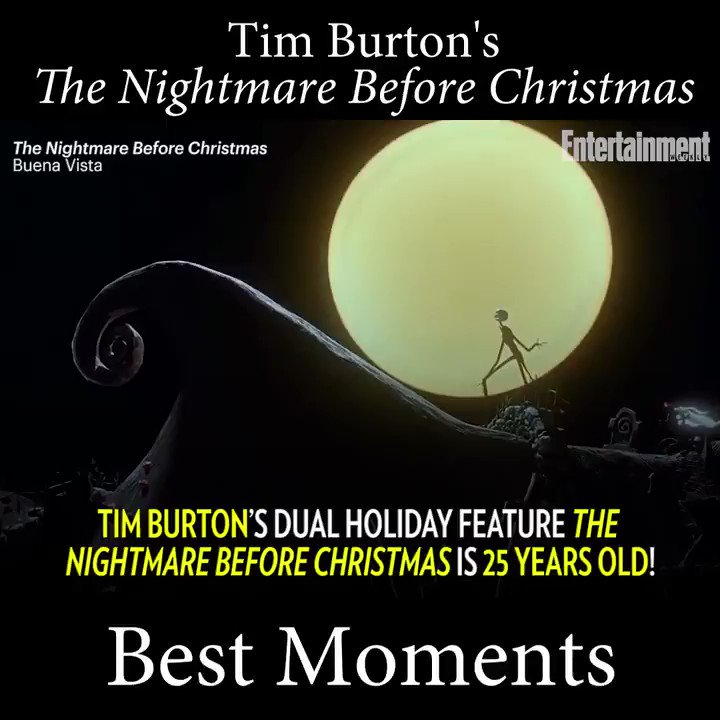 Tim Burton's TheNightmareBeforeChristmas came out 25 years ago today!