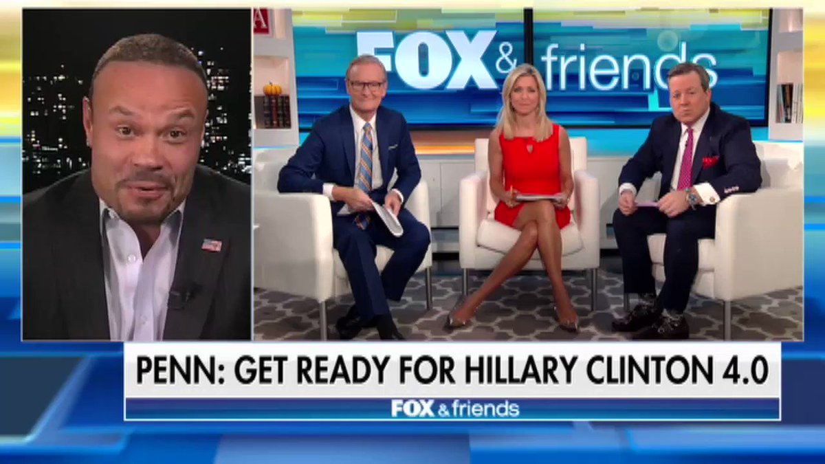 """Her whole life revolves around being that person in charge – she needs it"" -@dbongino doesn't discount the idea that Hillary Clinton may run in 2020"