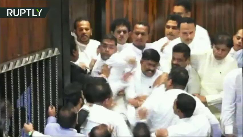 Fists fly at Sri Lankan parliament session in massive brawl over