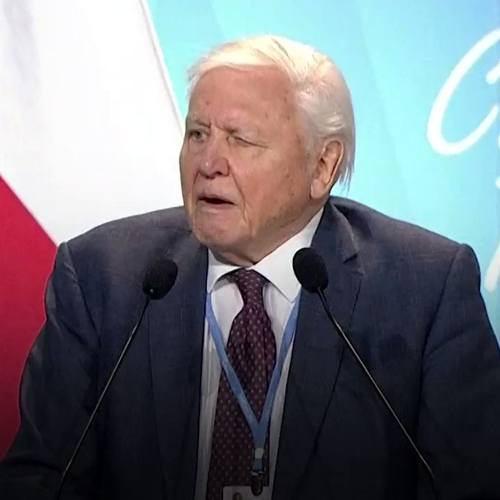 """The world's people have spoken... time is running out.""  Sir David Attenborough encourages world leaders at the UN Conference in Poland to ""act now"" against climate change. https://t.co/xiNqcfwhKc"