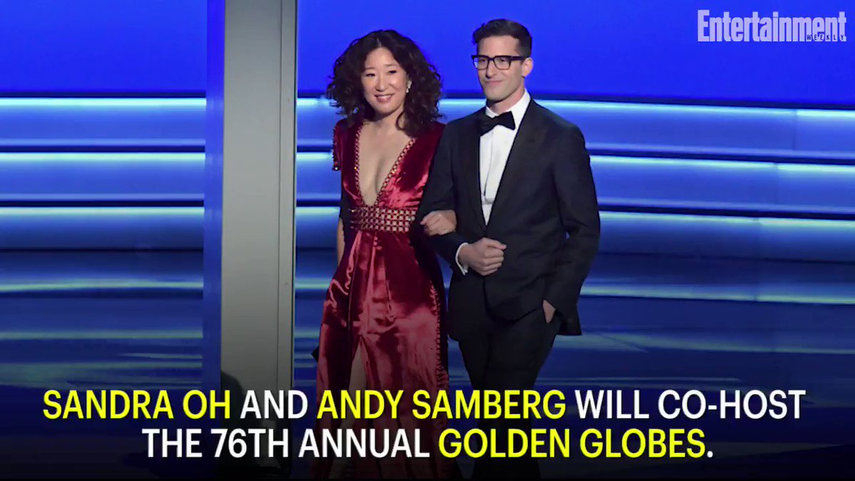 Sandra Oh and Andy Samberg to host the 2019 Golden Globes next month