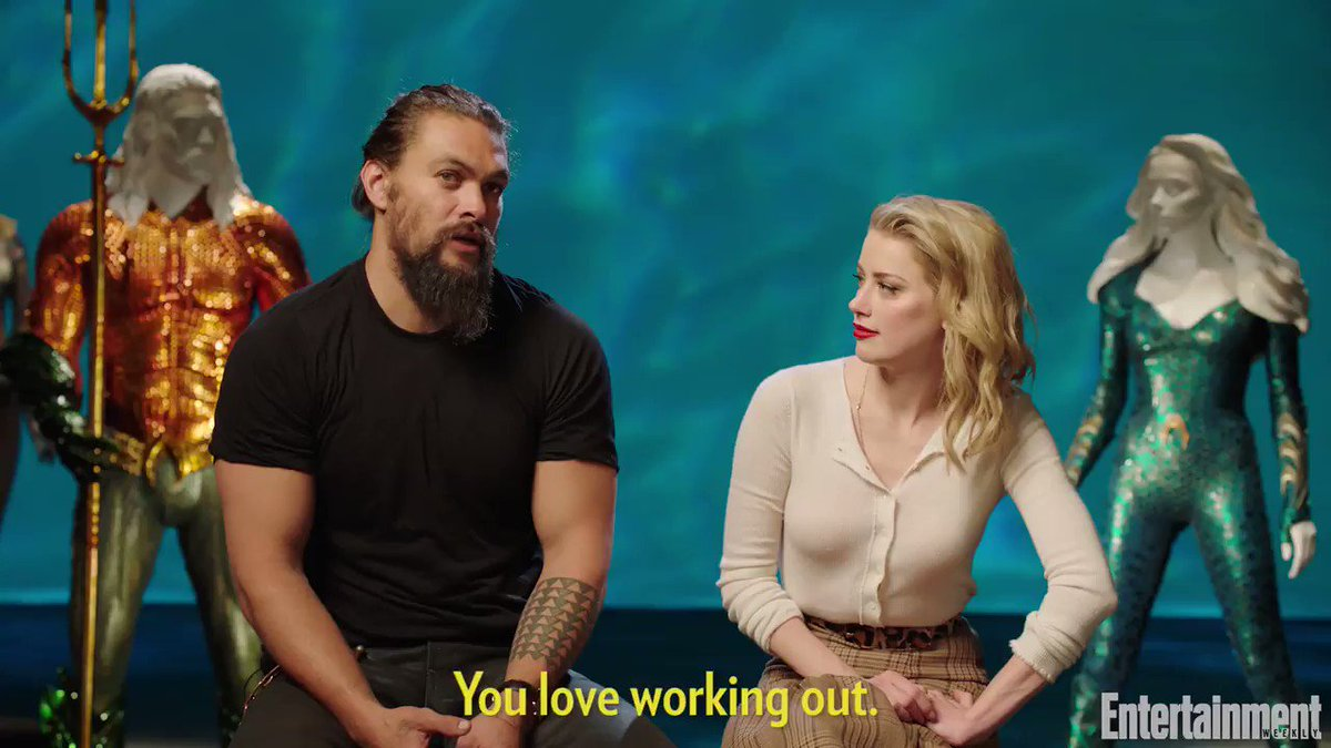 Aquaman star Jason Momoa swears he hasn't worked out in a year: