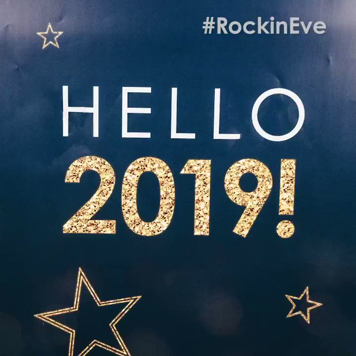HAPPY NEW YEAR! Who's watching @NYRE right now? We're having so much fun! #RockinEve #Hello2019 https://t.co/3prr7MmhLB