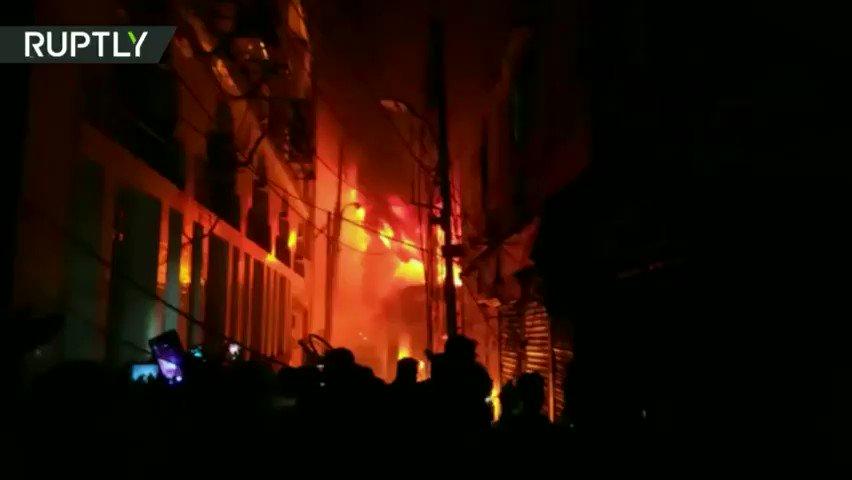 Dozens dead as massive fire rips through residential area in Bangladesh
