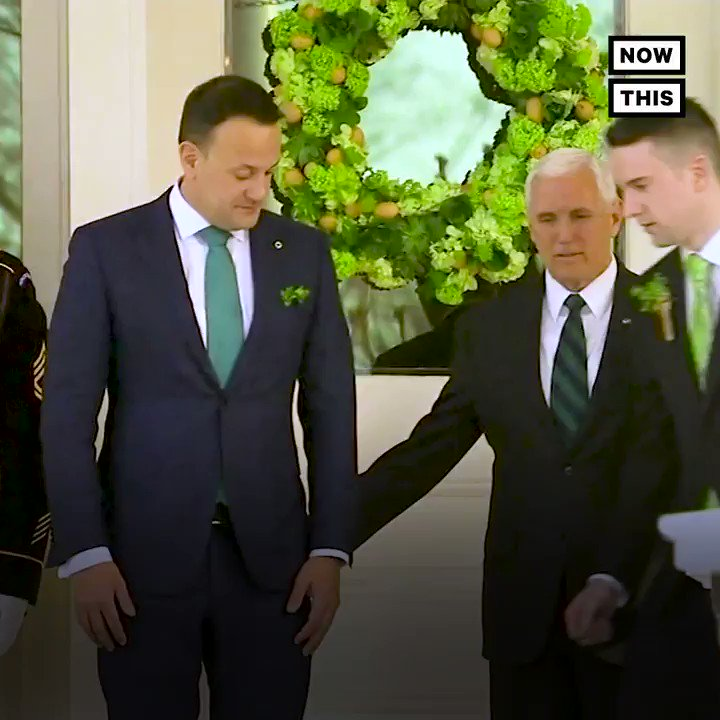 Please enjoy Irish Prime Minister Leo Varadkar bringing his boyfriend to meet Mike Pence.  https://t.co/xLUb1o8Bng