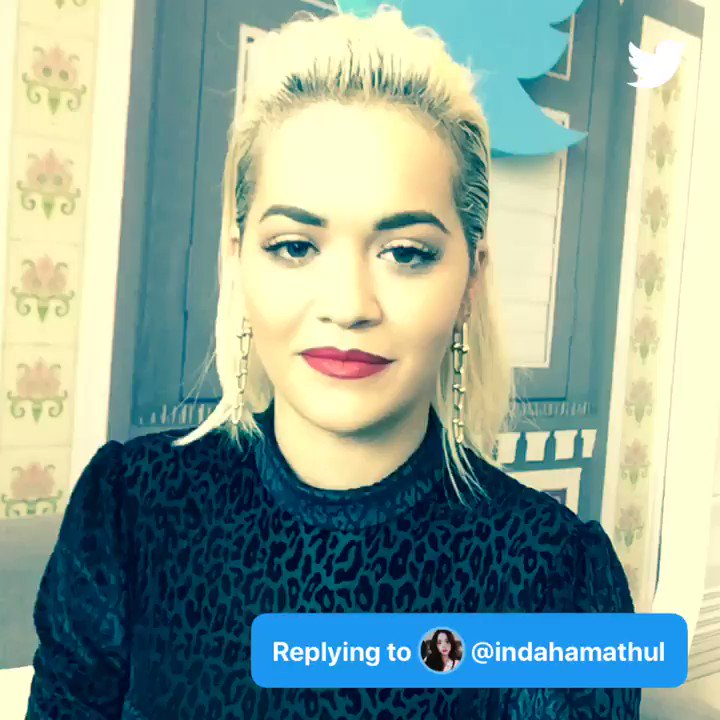 Q: favorite male and female singer at the moment? #AskRitaOra - @indahamathul  A: https://t.co/YuuyipOmcb