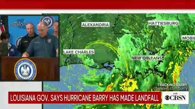 """Louisiana Gov. warns this is """"just the beginning"""" of Hurricane Barry"""