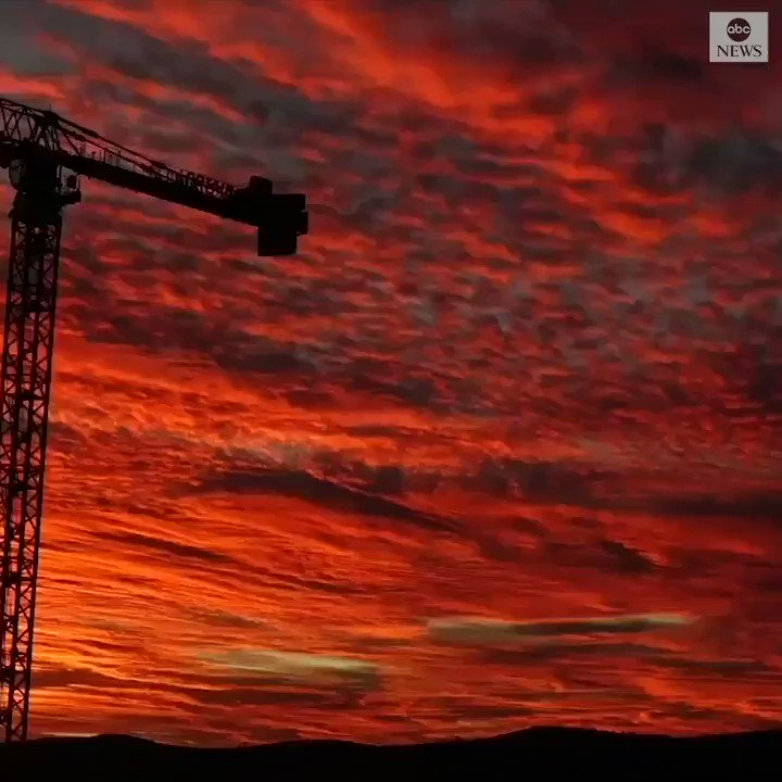 STUNNING SUNSET: Timelapse shows vivid hues painting the sky above Canberra during a sunset.
