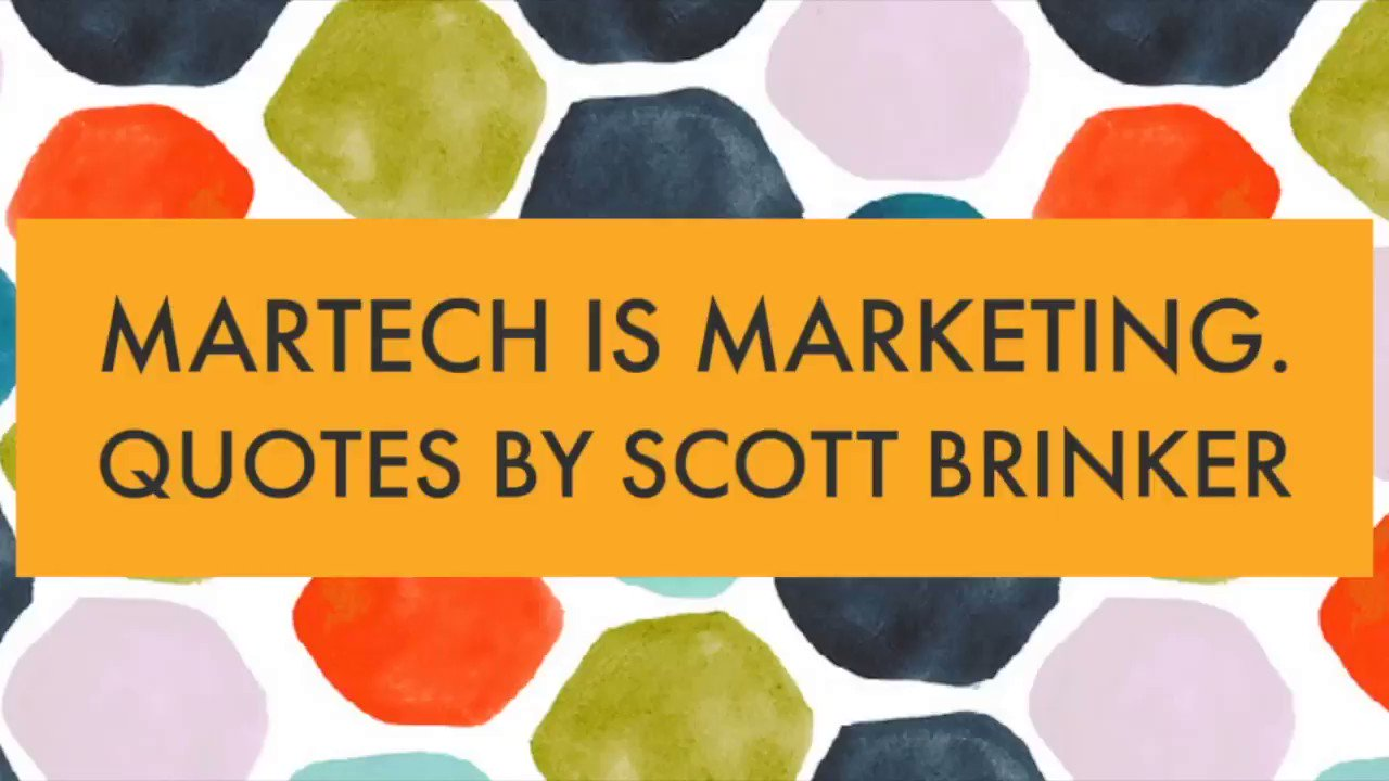 """WATCH: Missed the """"#Martech is Marketing"""" webinar last week with @chiefmartec & @jenvidetta?  Here are some great quotes! #MarTechConf https://t.co/9Z4vi0qwnf"""