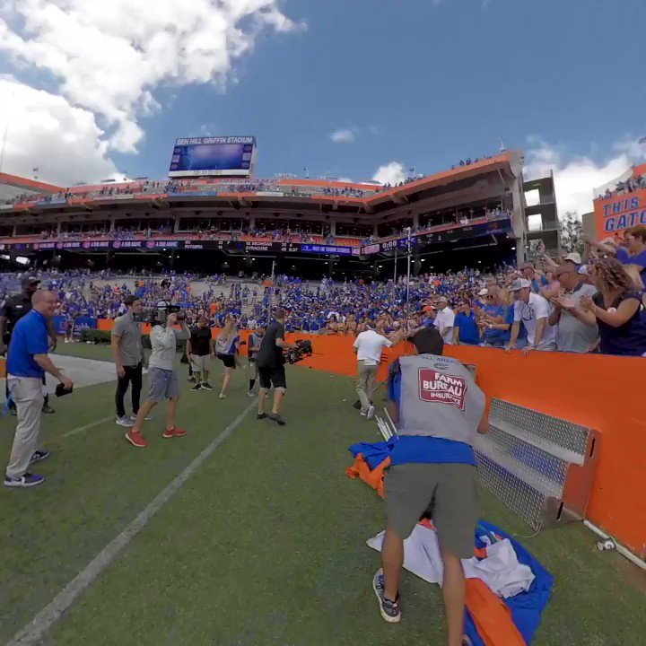 Find a coach that cares this much about Gator fans. This is what @CoachDanMullen did after #TENNvsUF. #GoGators