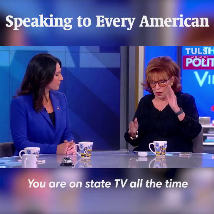 I go on Tucker Carlson, I go on Bret Baier, I go on Sean Hannity, I go on MSNBC, I go on CNN—I am here to speak to every single American in this country about the unifying leadership that I want to bring as president, not just speak to those who agree with me. #TULSI2020 https://t.co/1v4cDHFj4w