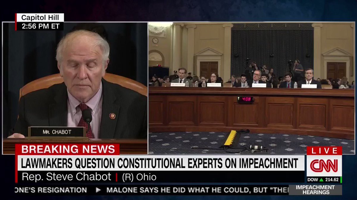 ".@RepSteveChabot: ""It would seem—since Schiff, for example, misled the American people on multiple occasions—common sense and basic fairness would call for Chairman Schiff to be questioned on those things, but we can't."""