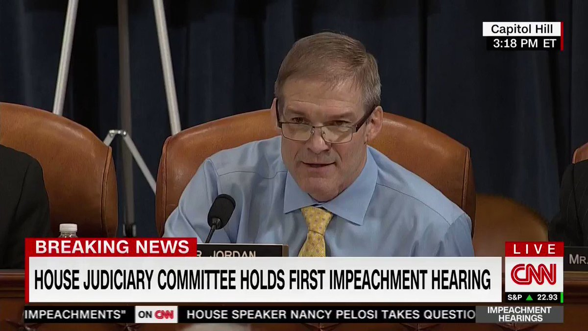 ".@Jim_Jordan: ""Four key facts will not change,  have not changed, will never change. We have the transcript. There was no quid pro quo in the transcript."""