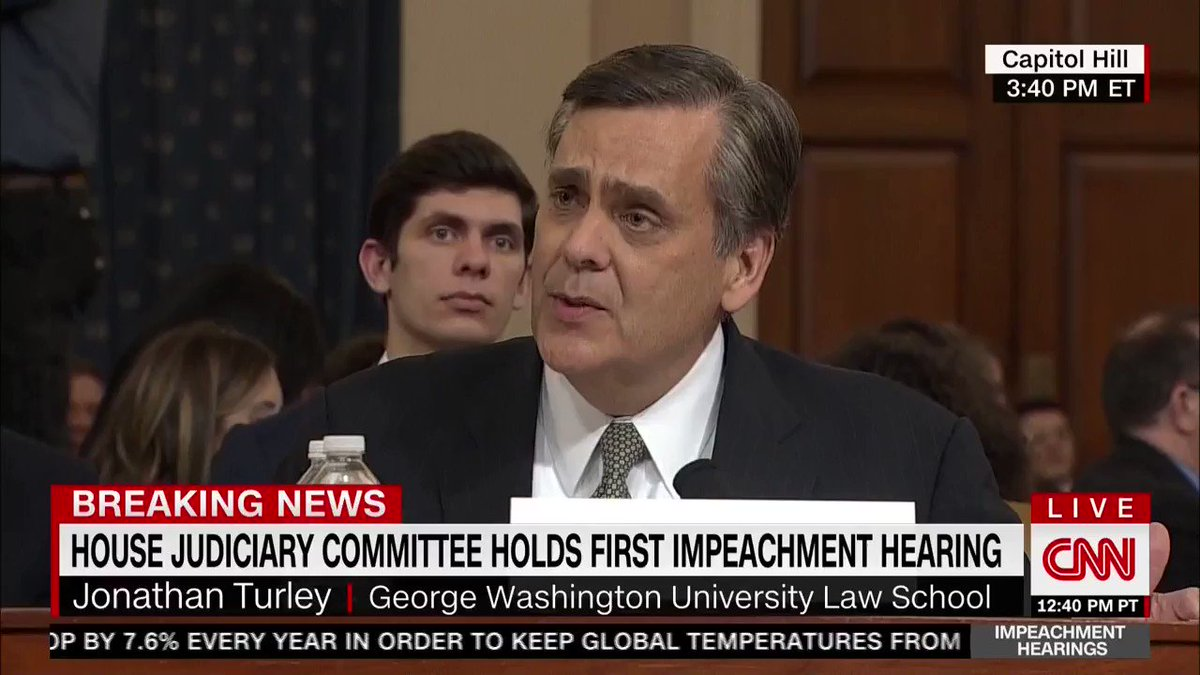 ".@RepRatcliffe: ""If I were to summarize your testimony: No bribery, no extortion, no obstruction of justice, no abuse of power, is that fair?""  Prof. Turley: ""Not on this record."""