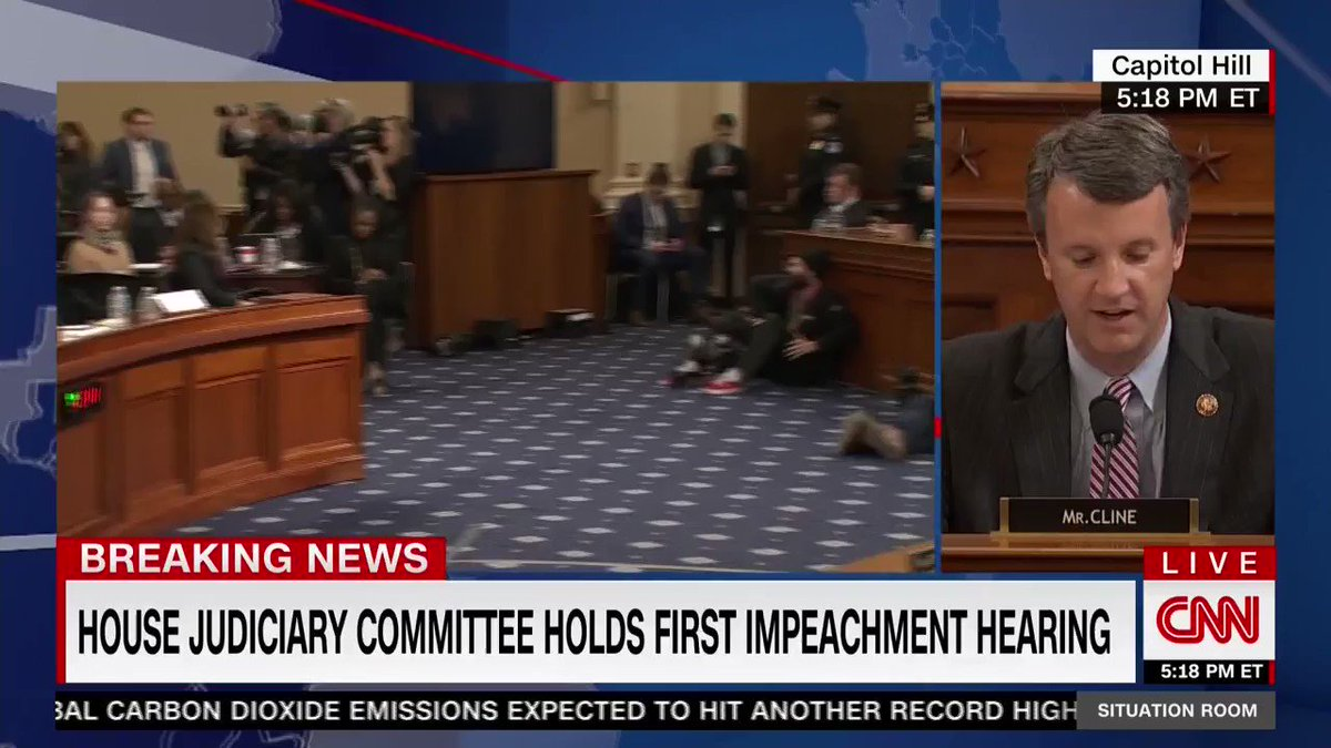 ".@RepBenCline: ""We haven't seen the evidence from the Intelligence Committee yet.   ""We've asked for it.  ""We haven't received it.   ""We haven't heard from any fact witnesses yet before we get to hear from these constitutional scholars."""
