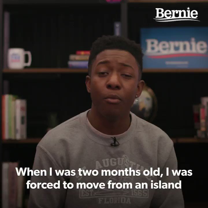 """""""I am a climate activist.   I am a climate migrant.  I am an organizer.  And I am so incredibly proud to cast my first vote and to endorse Bernie Sanders for president.""""  -@cfeliquan, executive director of @usclimatestrike https://t.co/xxMJPUm5vs"""