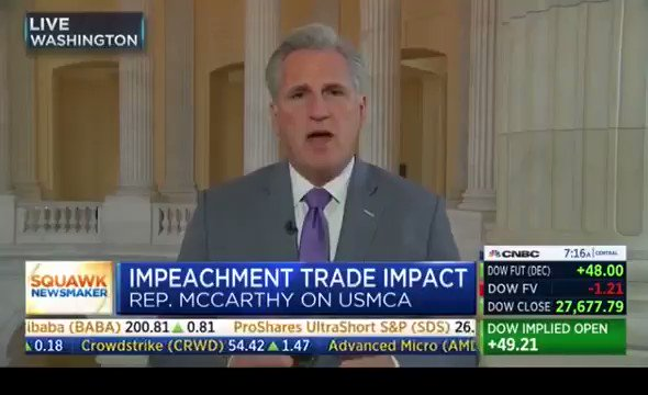 Here is the simple truth ⇨ If we passed #USMCA, the United States would immediately be in a stronger position in our negotiations with China.  Why is Speaker Pelosi putting politics over the prosperity of American workers?