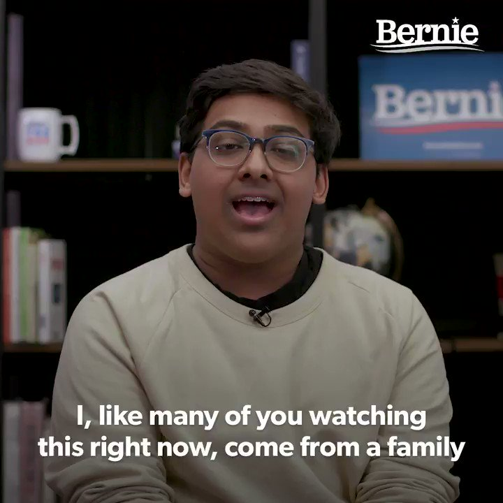 """""""When Bernie talks about this being a global crisis where we need to come together as one planet, this is what he means:  A movement where the working class tells the government that we have a say and we deserve to survive.""""  -@pujanpatel_, creative director at @usclimatestrike https://t.co/8gatbiU7v6"""