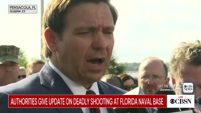 "FL @GovRonDeSantis says Saudi Arabia ""needs to make things better for these victims"" of the deadly naval base shooting.   ""I think that they will owe us a debt here, given it is one of their individuals,"" he added."