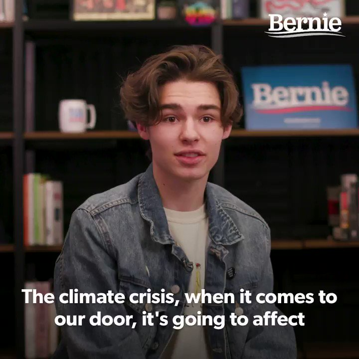 """""""When we talk about consequences, it's my generation.  It's our people who are going to be living in a world that is not sustainable.  It's Bernie and the movement he's building that actively centers us in the conversation.""""  -@daylonprochaska, organizer with @usclimatestrike https://t.co/arLW8kxhyX"""