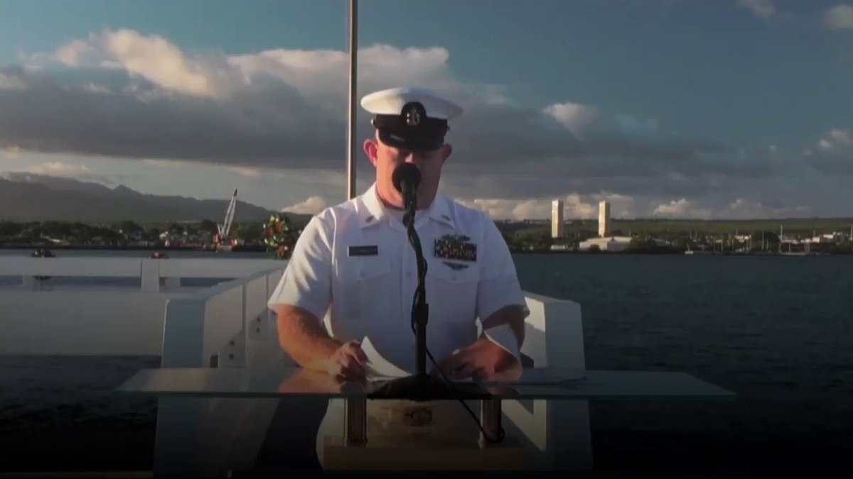 WATCH: A sunset ceremony is held in honor of the USS Utah at the memorial on Ford Island.   The USS Utah was the first ship torpedoed in the attack on Pearl Harbor on December 7, 1941. 58 people died after the ship was struck.