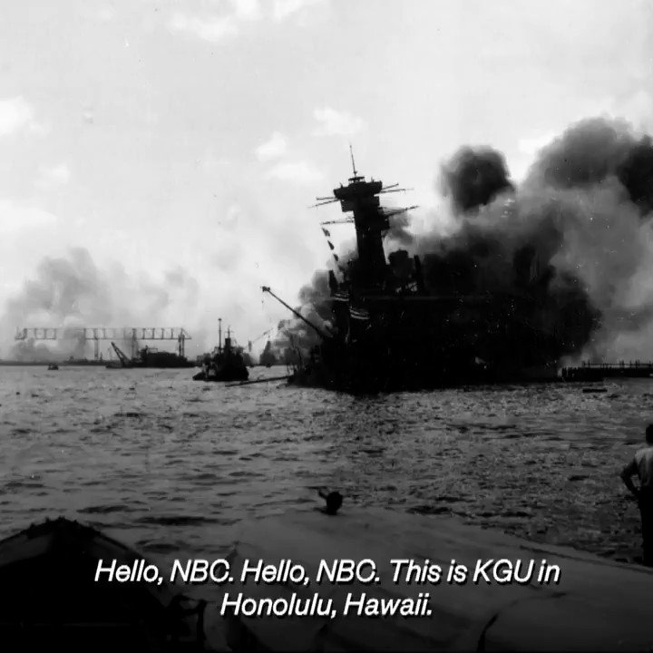 """""""Hello, NBC ... It is no joke. It is a real war.""""  Listen to the live radio breaking news broadcast to NBC during the attack on #PearlHarbor on Dec. 7, 1941 — 78 years ago today."""