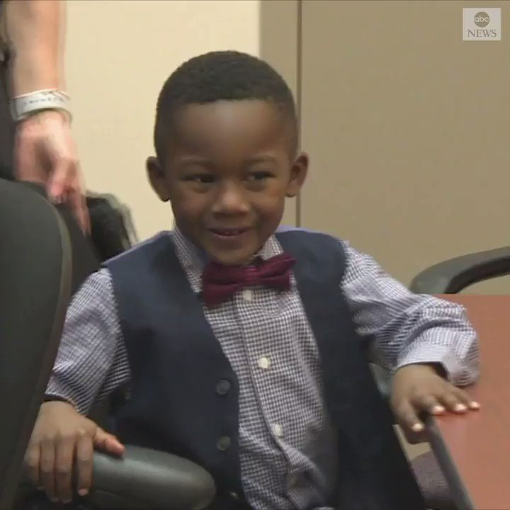 NO PLACE LIKE HOME: Michael was so excited about joining his forever home by the holidays, he invited his entire 36-student kindergarten class to the adoption hearing!