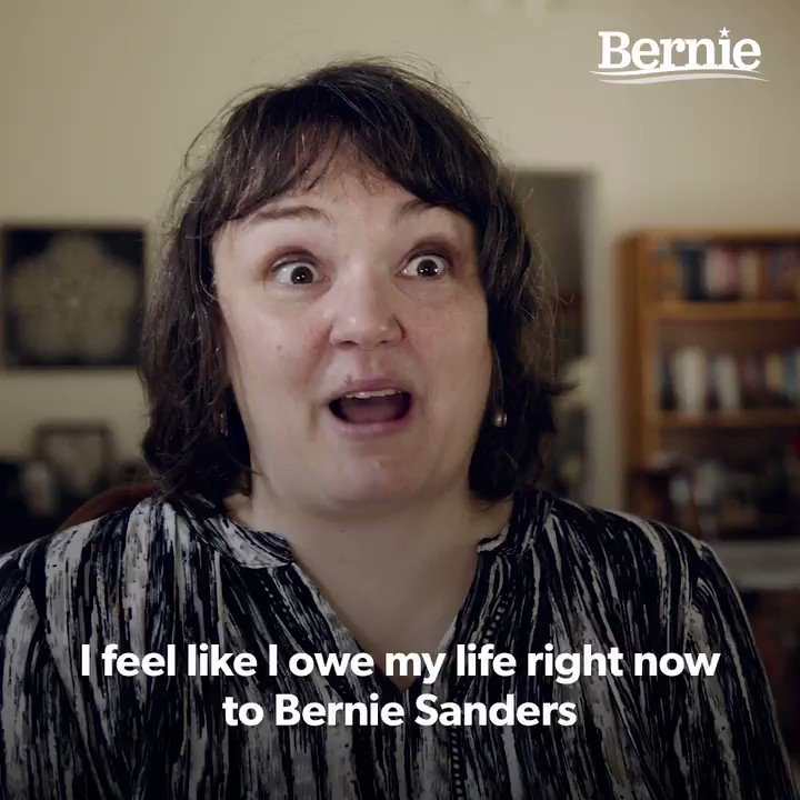 """I feel like I owe my life right now to Bernie Sanders because without his help, I don't think I would have been able to get this medication."" –Rebecca Hovde https://t.co/AERcmUuphJ"