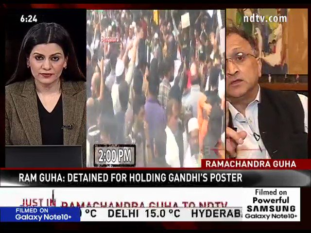 "#NDTVExclusive | ""I was told that restrictions would be lifted on Sunday for a BJP rally"": Historian and Author Ramachandra Guha  #CitizenshipAct #CitizenshipAmmendmentAct"
