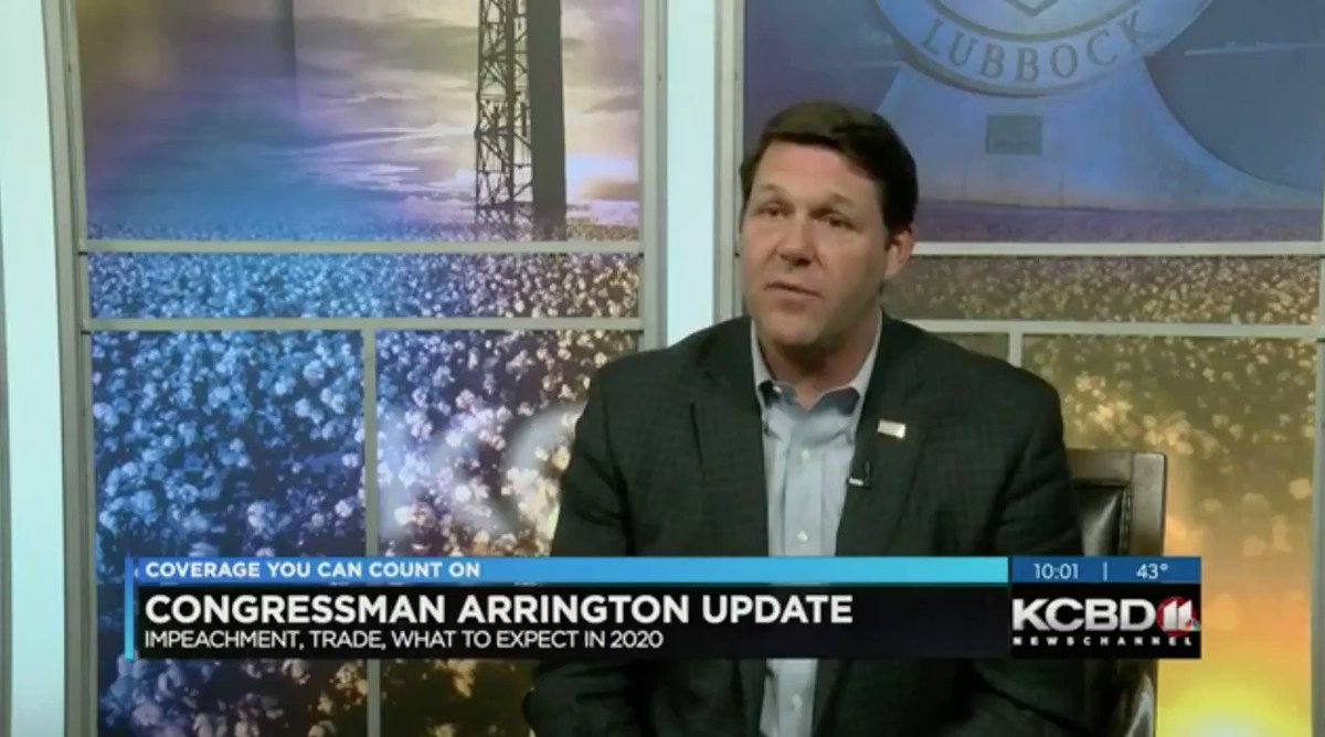 Heading into 2020, one of my top priorities is to empower rural America by enhancing access to quality health care for the next generation of farmers & ranchers in West Texas & beyond.  Watch more of my full interview w/ @KCBD11 in Lubbock this week: