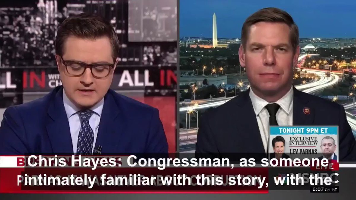 #ICYMI, I joined @chrislhayes last night to discuss the new evidence from Lev Parnas obtained by the House.   I want to reset this entire conversation for my friends across the aisle. Do you hear it now? Do you see it now? Do you care about it now?