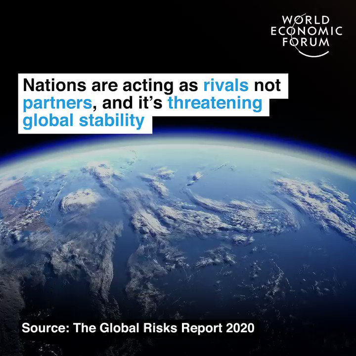 Economies are at risk of decoupling entirely.  📕 Read more in the Global Risks Report 2020:  #risks20 #howtosavetheplanet