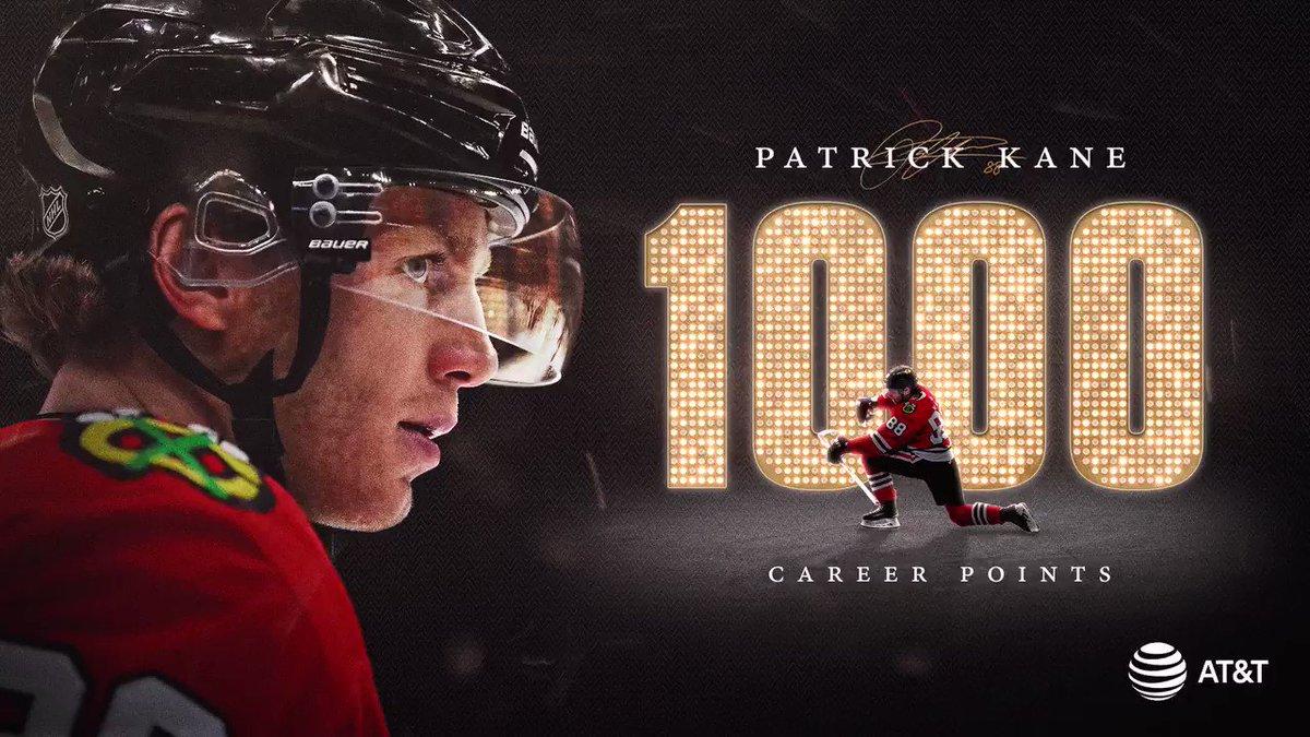 THAT'S 1,000 NHL POINTS FOR PATRICK KANE!  #1KANE #THATSHOCKEYBABY