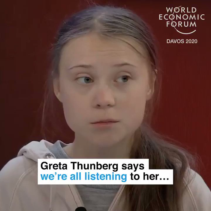 """""""People are dying from climate change. Every fraction of a degree matters."""" - @GretaThunberg   📕 Read more:  #howtosavetheplanet #wef20 @TIME"""