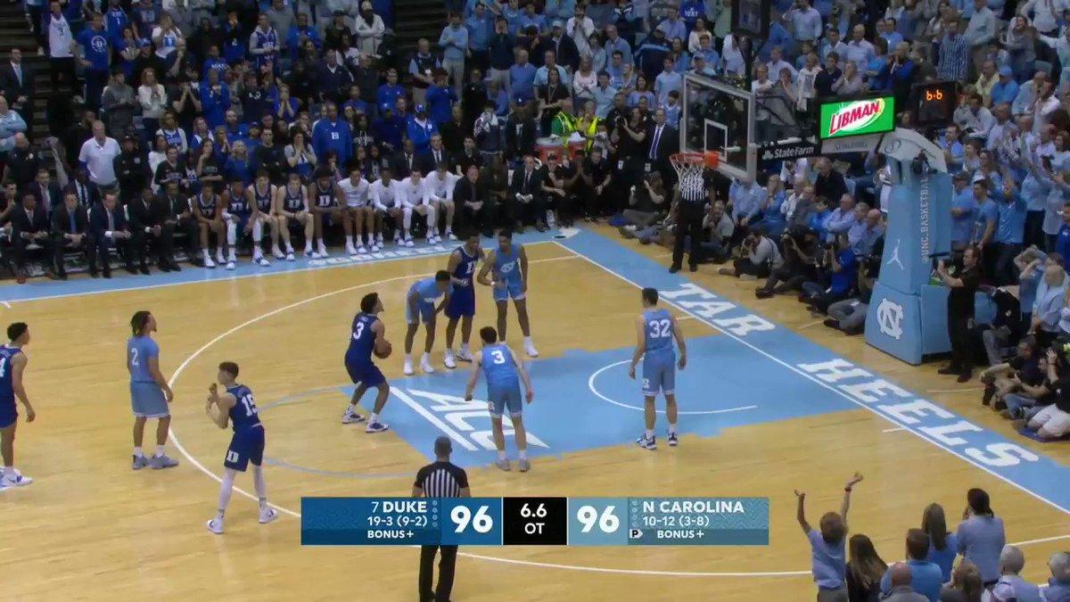 Crazy ending to Duke's win over UNC!