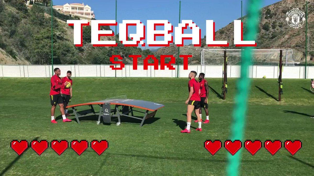 👾 Iiiiiiit's Teqball time! 👾  🇫🇷 A. Martial 🇵🇹 B. Fernandes  🆚  🇧🇷 Fred 🇧🇷 A. Pereira