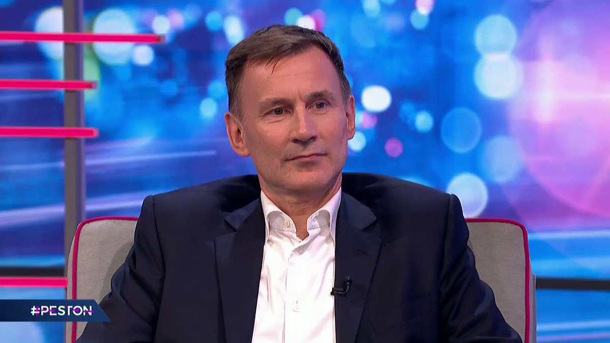 """If there was one country in the world that I would want to be in if there was a pandemic - it's the U.K.""  @Jeremy_Hunt insists the NHS is prepared for Coronavirus. #Peston"