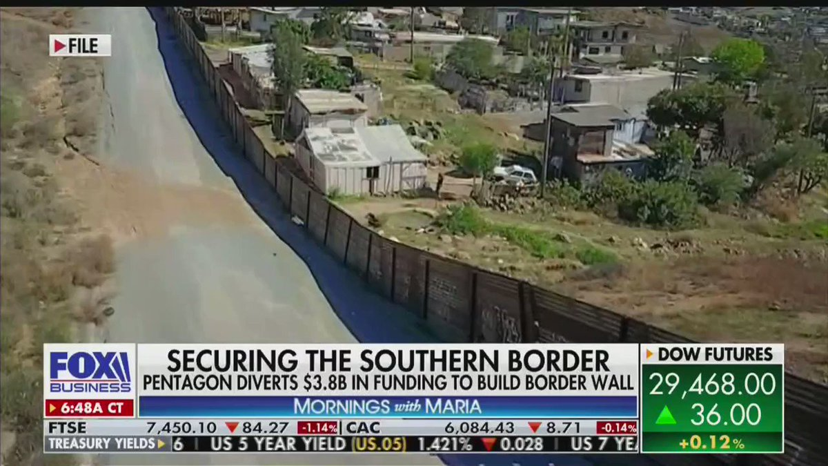 """Our border is more SECURE and the WALL is being built!  President @RealDonaldTrump knows that border security means homeland security.  """"So far we've built about 120 miles of the border wall. We're on track to complete 450 miles by the end of this calendar year."""""""