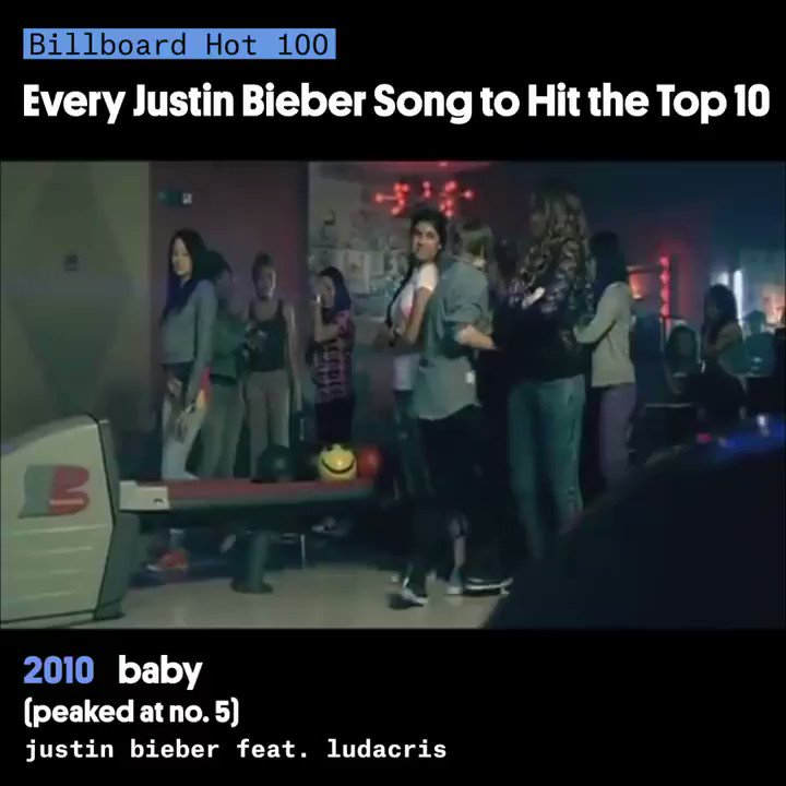 """From """"Baby"""" to #Yummy, here is every @justinbieber song that has hit the top 10 on the #Hot100 💯"""