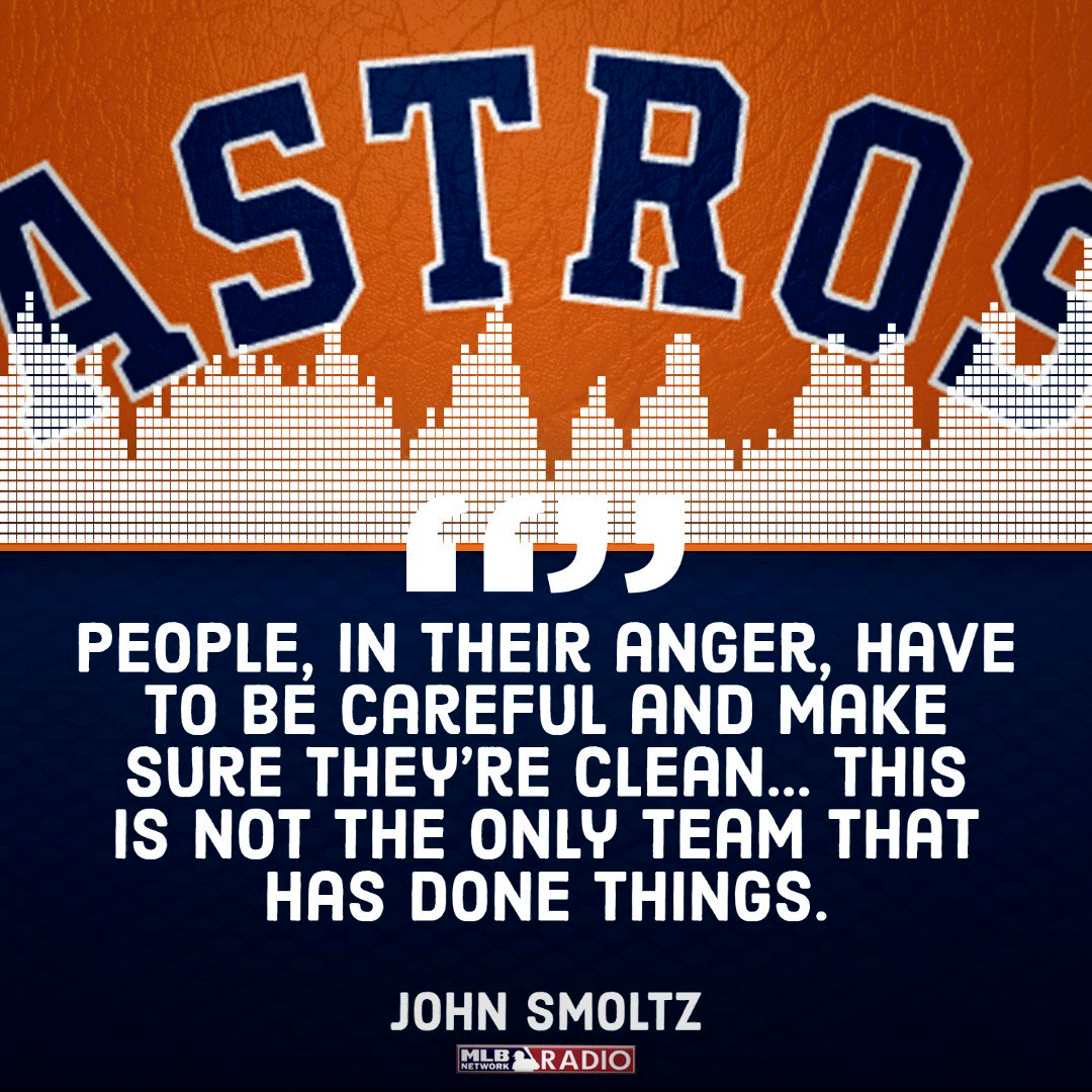 Hall of Famer John Smoltz with a warning to those who are harshly criticizing the #Astros in the wake of the sign stealing scandal.