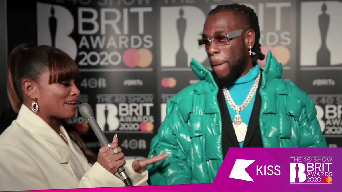 .@burnaboy coming with the DRIP 💧  Who else is feeling Fleur East's freestyle?! #BRITs