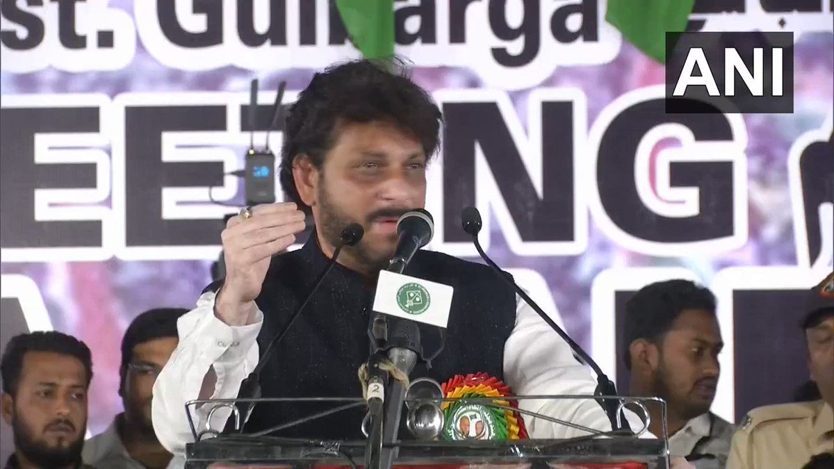 #WATCH AIMIM leader Waris Pathan: ...They tell us that we've kept our women in the front - only the lionesses have come out&you're already sweating. You can understand what would happen if all of us come together. 15 cr hain magar 100 ke upar bhaari hain, ye yaad rakh lena.(15.2)