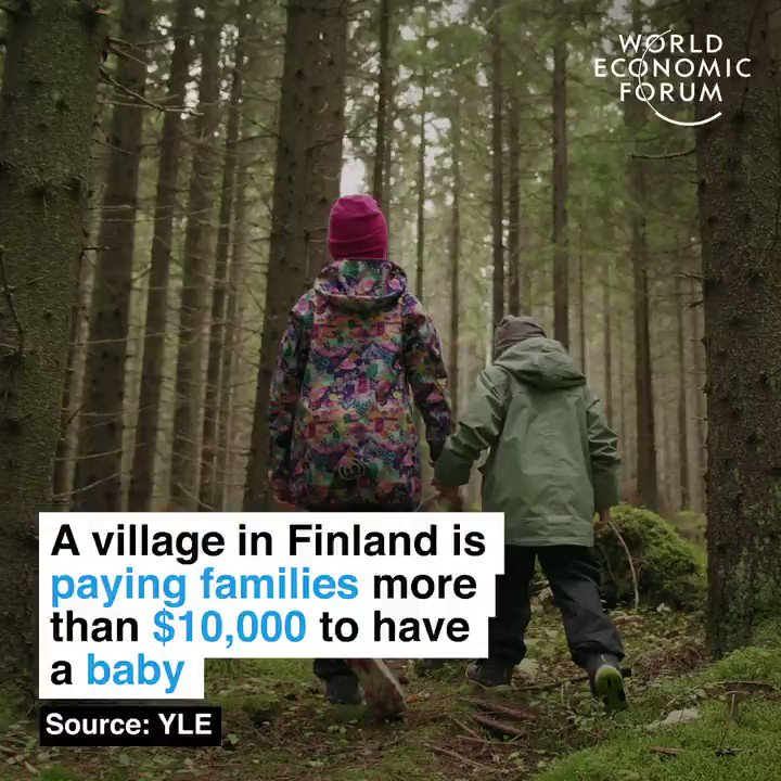 Since 1967, fertility rates in the EU have fallen by 38%.   🔎 Learn more about global population challenges:  #Finland #Population